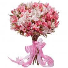 """Букет """"Жемчужина"""" из розовых Альстромерий"""