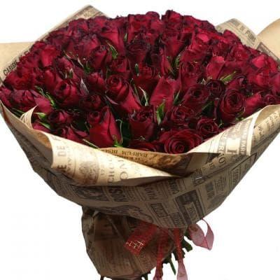 """101 импортная роза  """"Страсть"""""""
