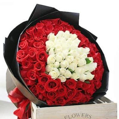 """Букет """"И даже на расстоянии"""" из 101 розы"""