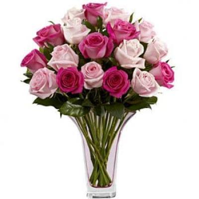 """11 розовых роз в стиле """"ШЭББИ-ШИК"""""""