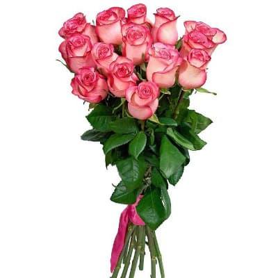 """15 розовых роз """"Для тебя"""""""