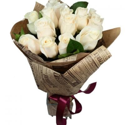 "15 белых роз ""Комплимент"""