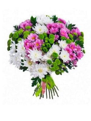 букет из 19 веток хризантемы