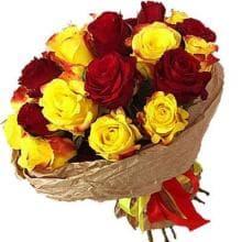 """Букет-микс из 25 роз """"Хорошего дня"""""""