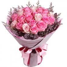 """Букет """"Прикосновение"""" 25 розовых роз"""