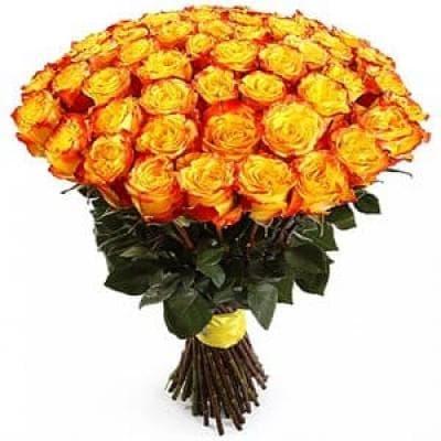 51 импортная желтая роза