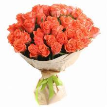 """51 оранжевая роза """"Восточная Красавица"""""""