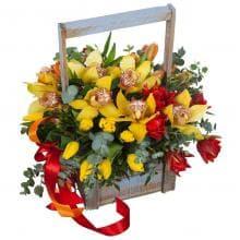 """Букет Орхидей """"В ящике"""""""
