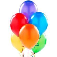 7 разноцветных гелиевых шаров