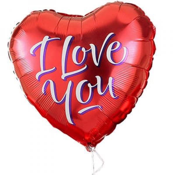 """Воздушный гелиевый шарик """"I love you"""""""