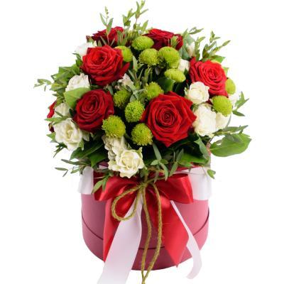 """Цветы в коробке """"Послание"""""""