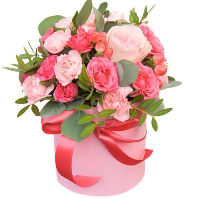 """Цветы в коробке """"Очаровашка"""""""