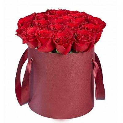 """25 импортных роз  в коробке """"Для тебя"""""""