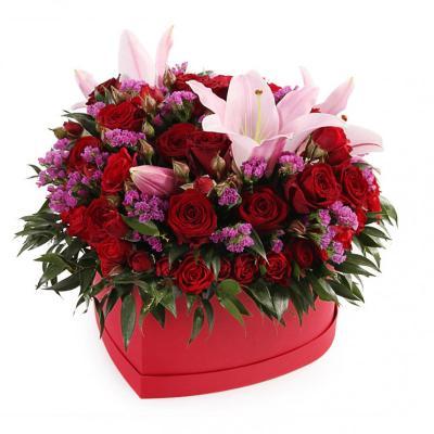 """Цветы в коробке """"Самой милой"""""""