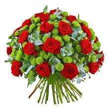 """Букет из роз и хризантем """"Созвездие"""""""