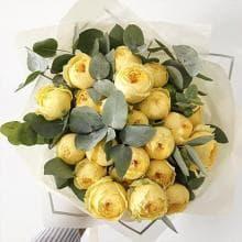Букет из пионовидной розы «Лучик-солнца»