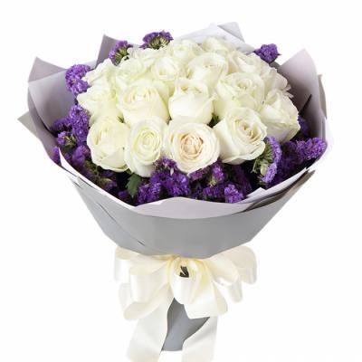 """19 белых роз """"Ненаглядная"""""""