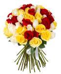 51 импортная разноцветная роза
