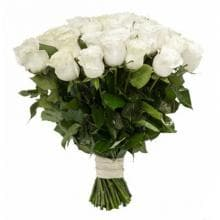 51 белая роз