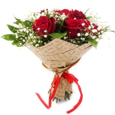"""7 красных роз  """"Сюрприз"""""""